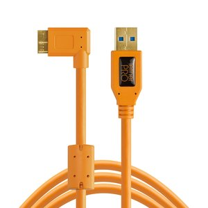 Tether Tools TetherPro USB 3.0 to Micro-B Right Angle Cable, 15' (4.6m), High-Visibility Orange.jpg