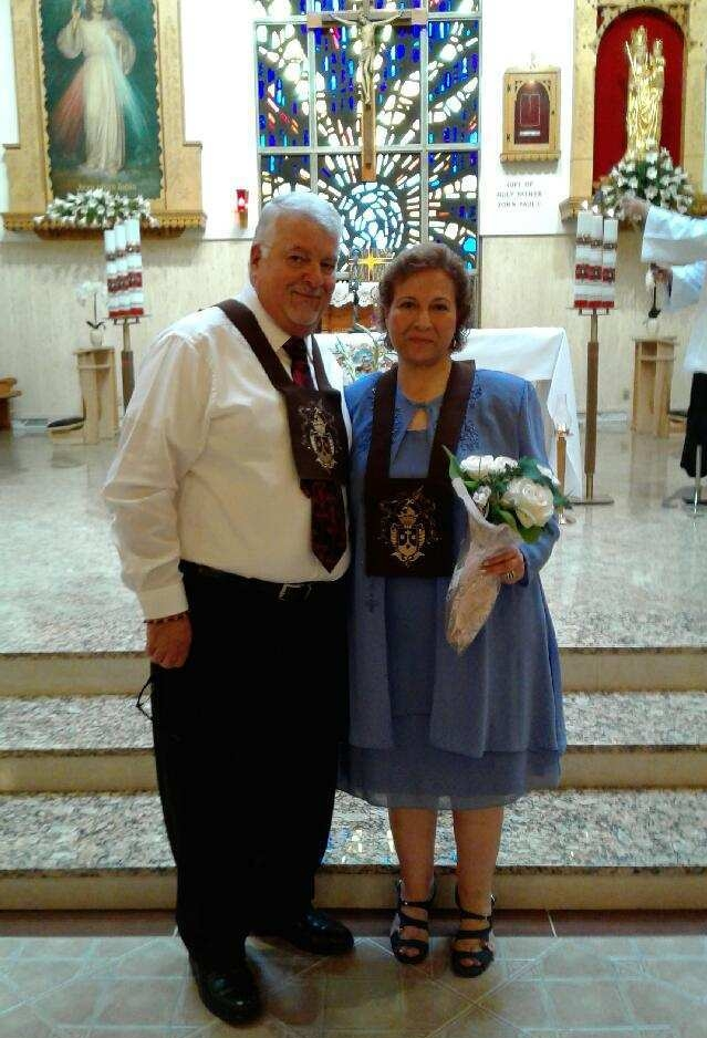 Ghanem and Mary on their 35th wedding anniversary
