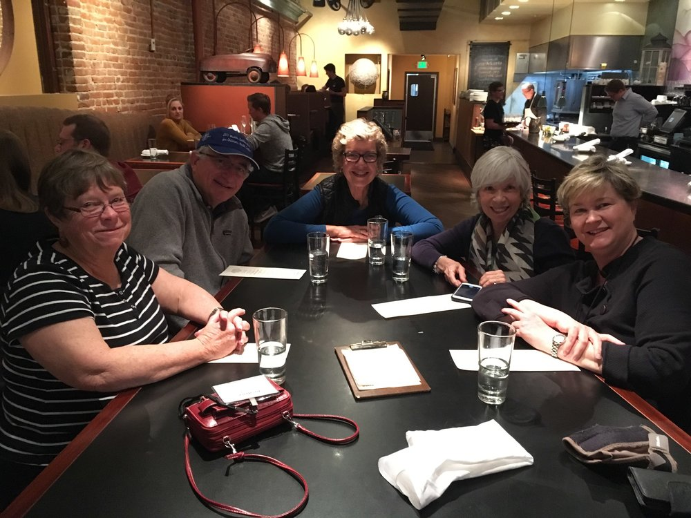 Out to dinner with new cohousing friends from Henderson, NV!