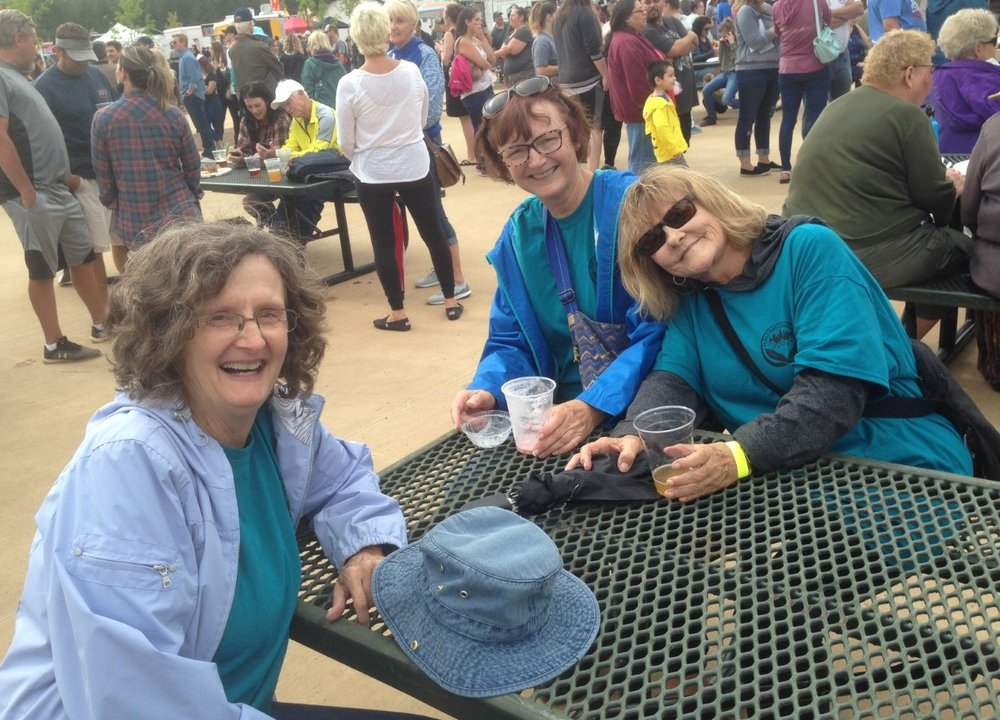 L to R: Nancy Andrews, Carol Scholing & Kay Brown