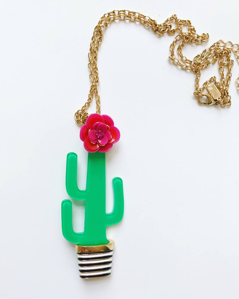 Kate Spade cactus necklace