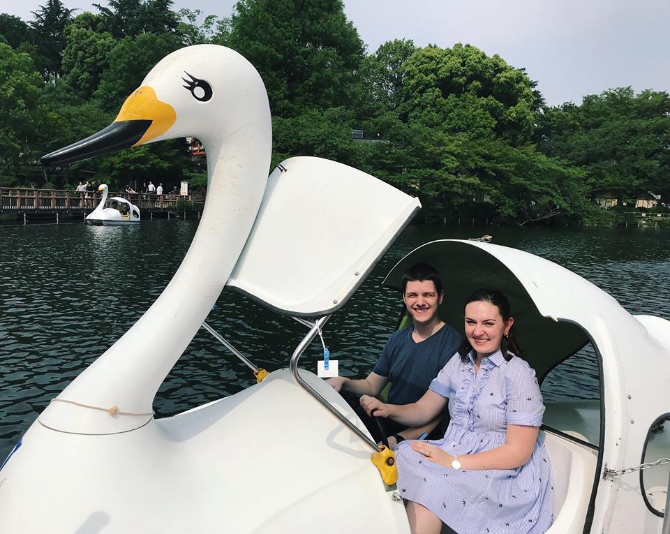 swan boats japan