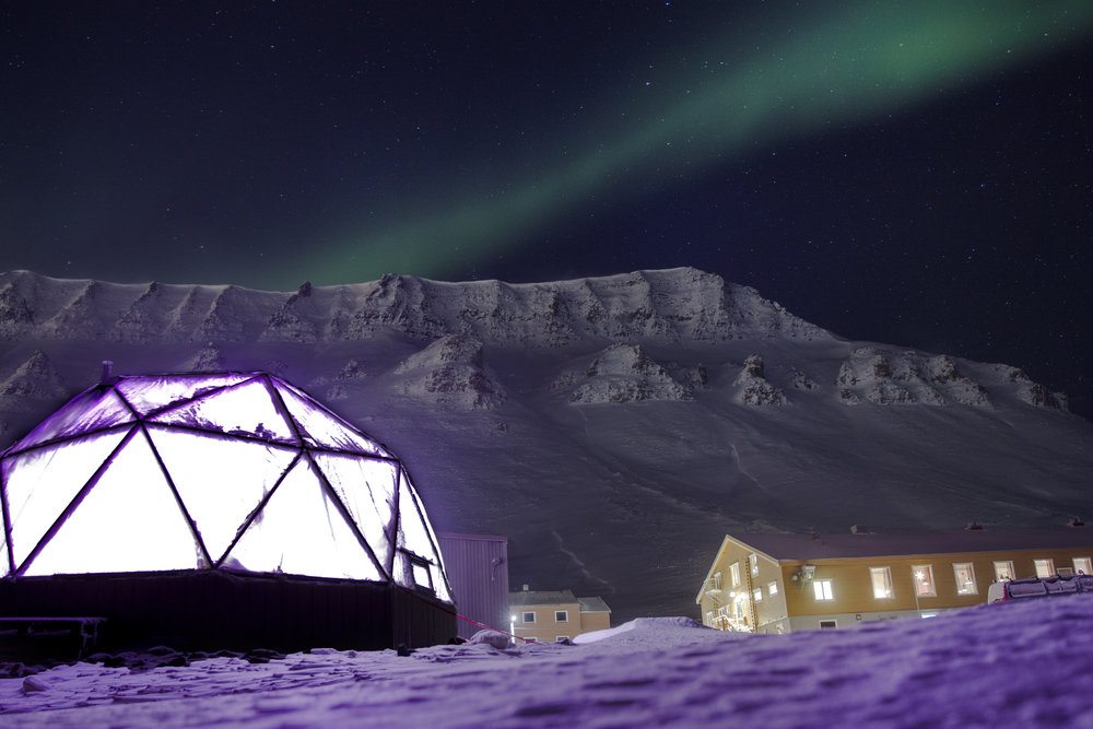 Dome during polar night.