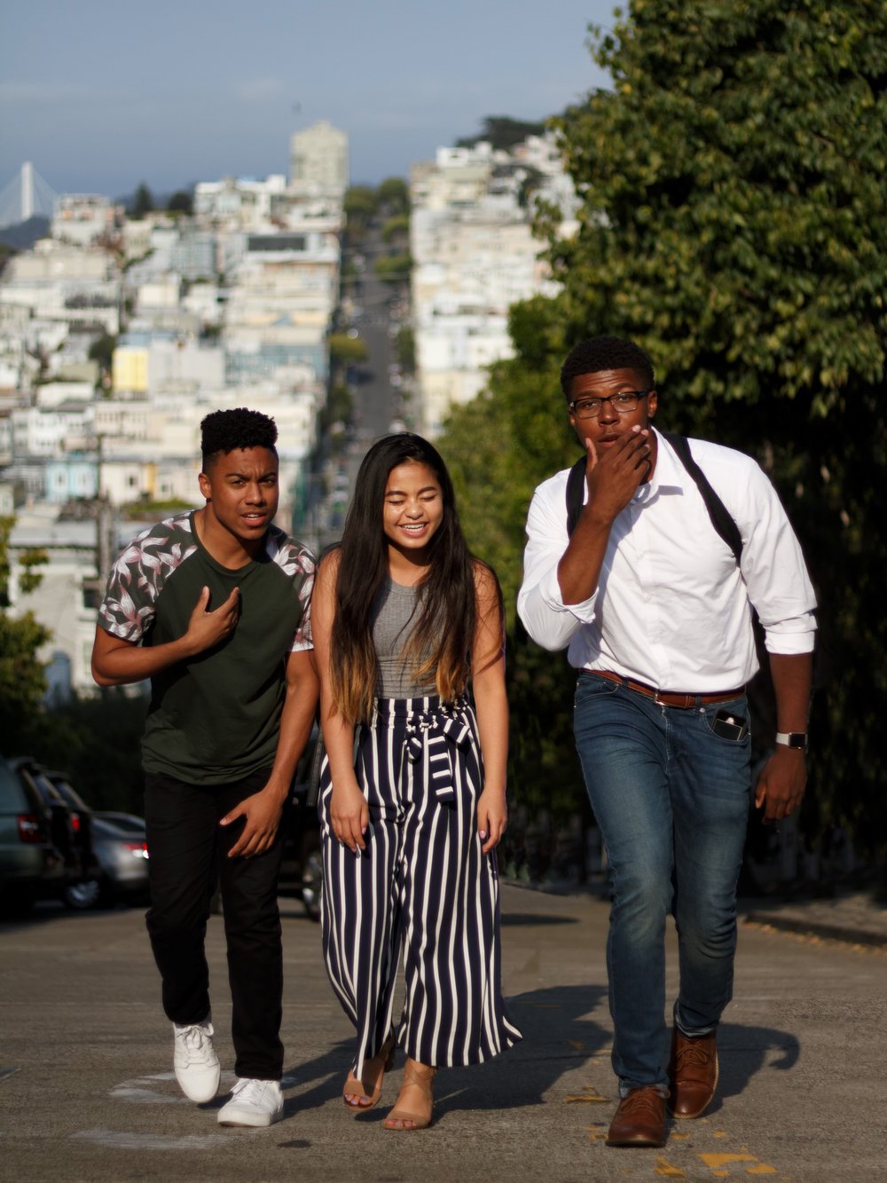 Photo taken by  Christopher Mendoza of my new friends and me exploring the wacky streets of San Francisco. On the left: Steven Bolden (Accenture Intern, Morehouse College). On the right: Kevin Bradford (GE Aviation Intern, University of Dayton).