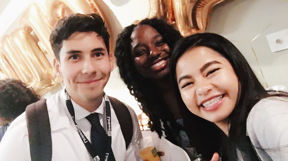 Photo of me at Accelerate U with  Ivan De La Torre  (UCLA) and  Nimiye Ogoun  (Pitzer College) who I initially met at the Google BOLD Immersion program in August 2017.