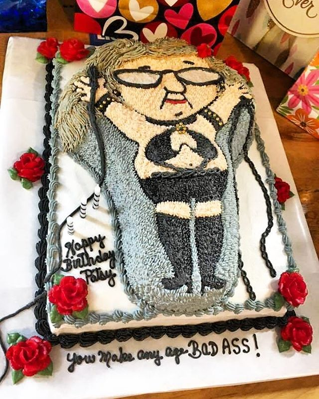 @bergeronpatsy is a beautiful and also kicks ass!  Happy Birthday!