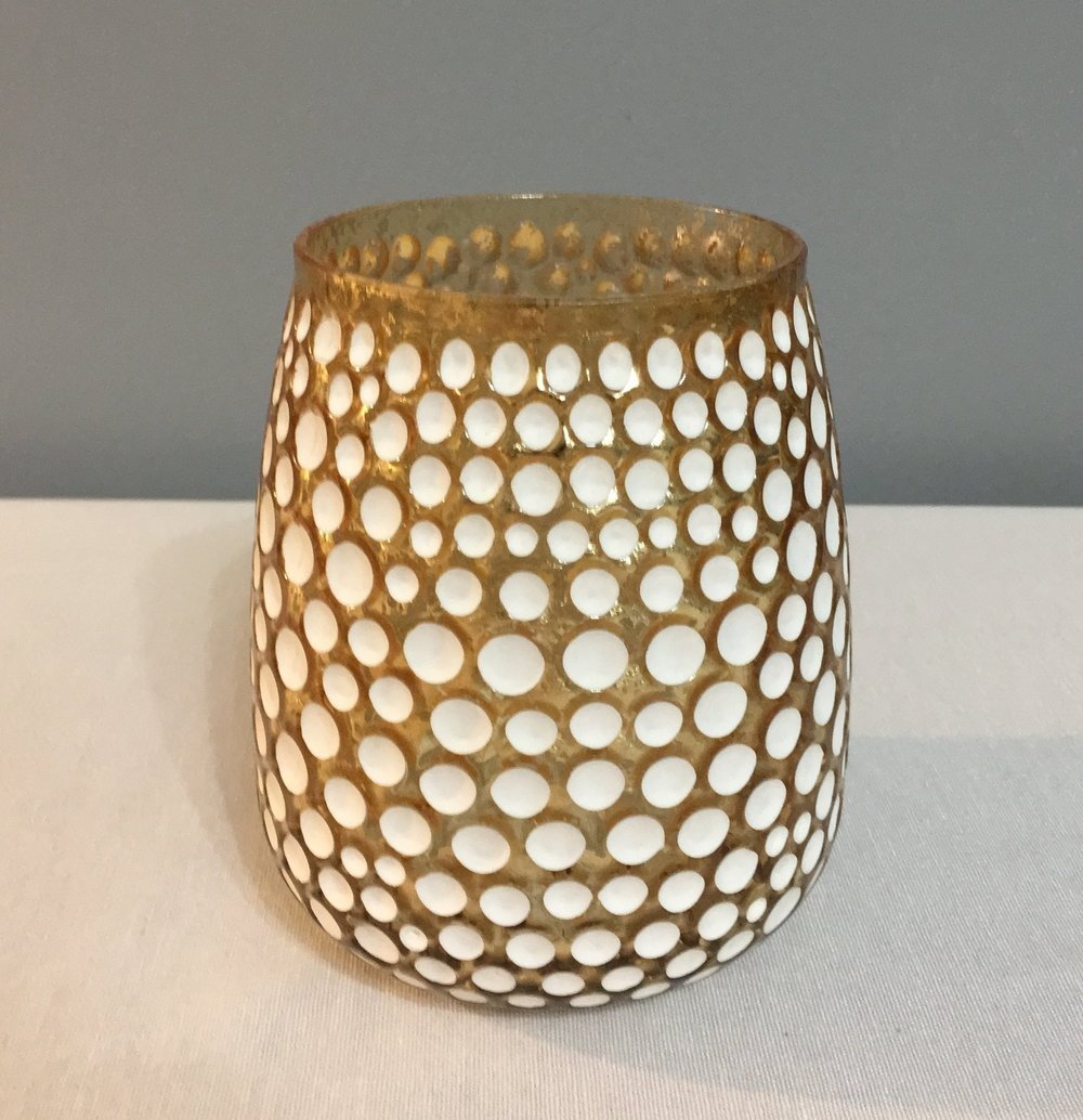 2 Small Vases/Candle Holders