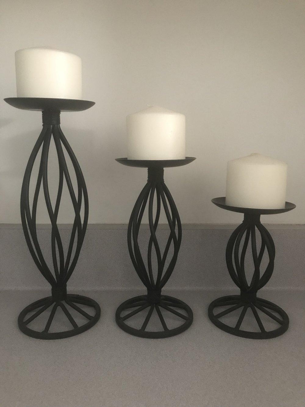 Pillar Candle Stand Set