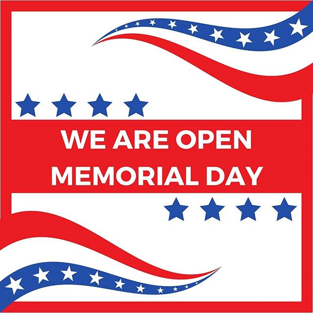 Memorial Day is right around the corner, and we wanted to let you know that we will be open our normal Monday hours from 11am - 9pm. • ❤ Taste of Thai