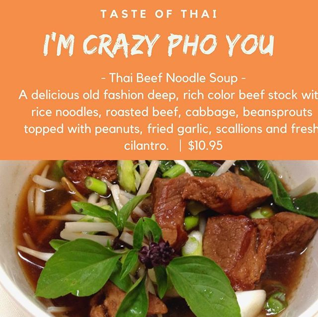 You guys will defiantly go crazy pho our Thai Beef Noodle Soups when you try a bowl of pho yourself! 🍜🤤