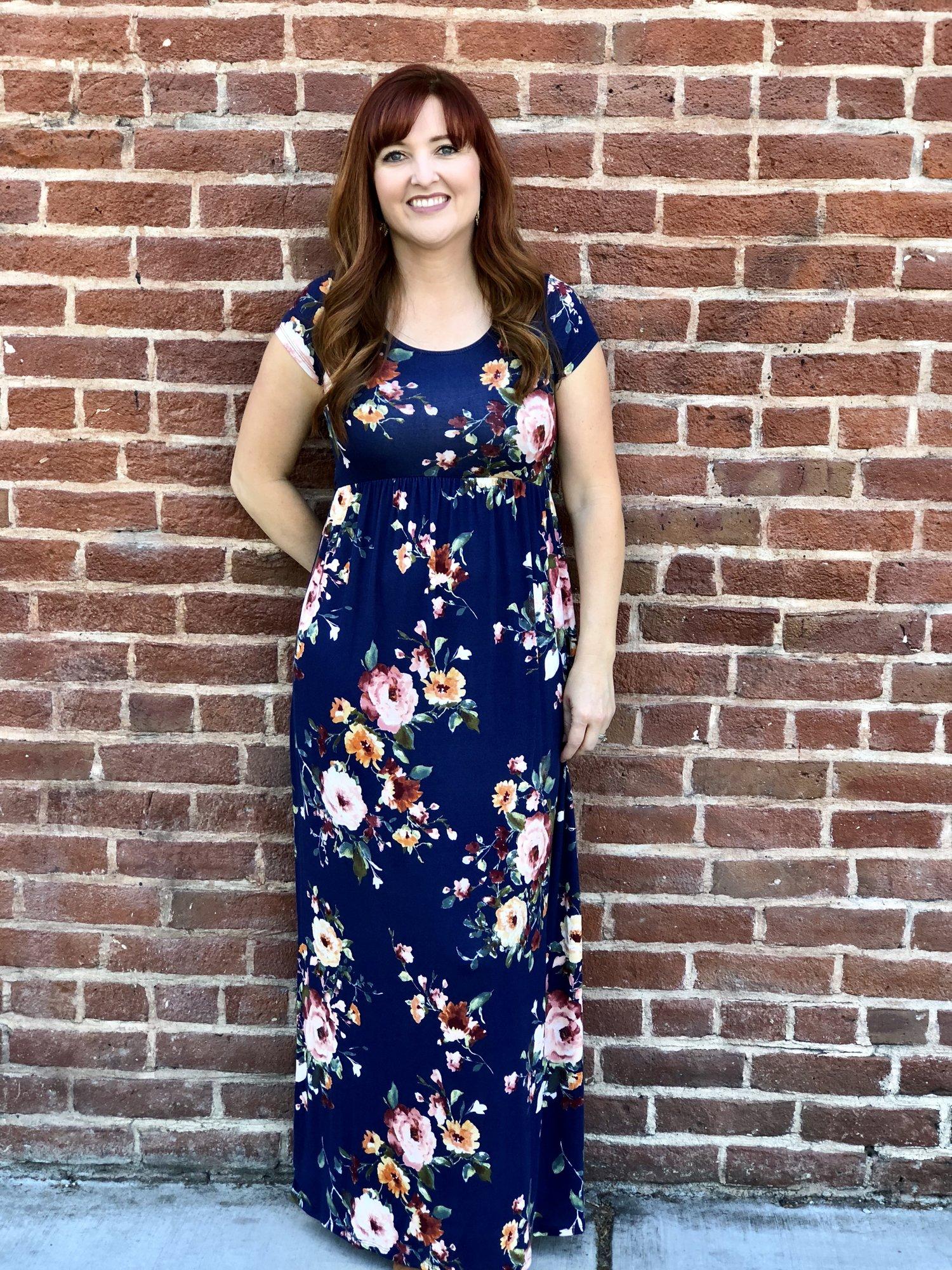Let Me Call You Sweetheart Floral Blue Maxi Dress — Avonlea Lane e4823a028a3a