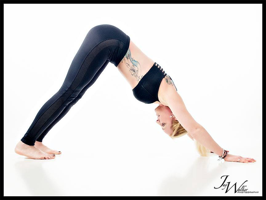 Down Dog: Shoulders full extended with body weight driving through to the floor