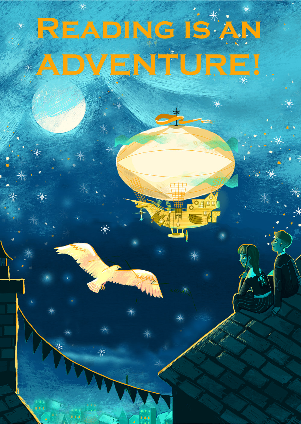 Copy of Reading is an Adventure poster