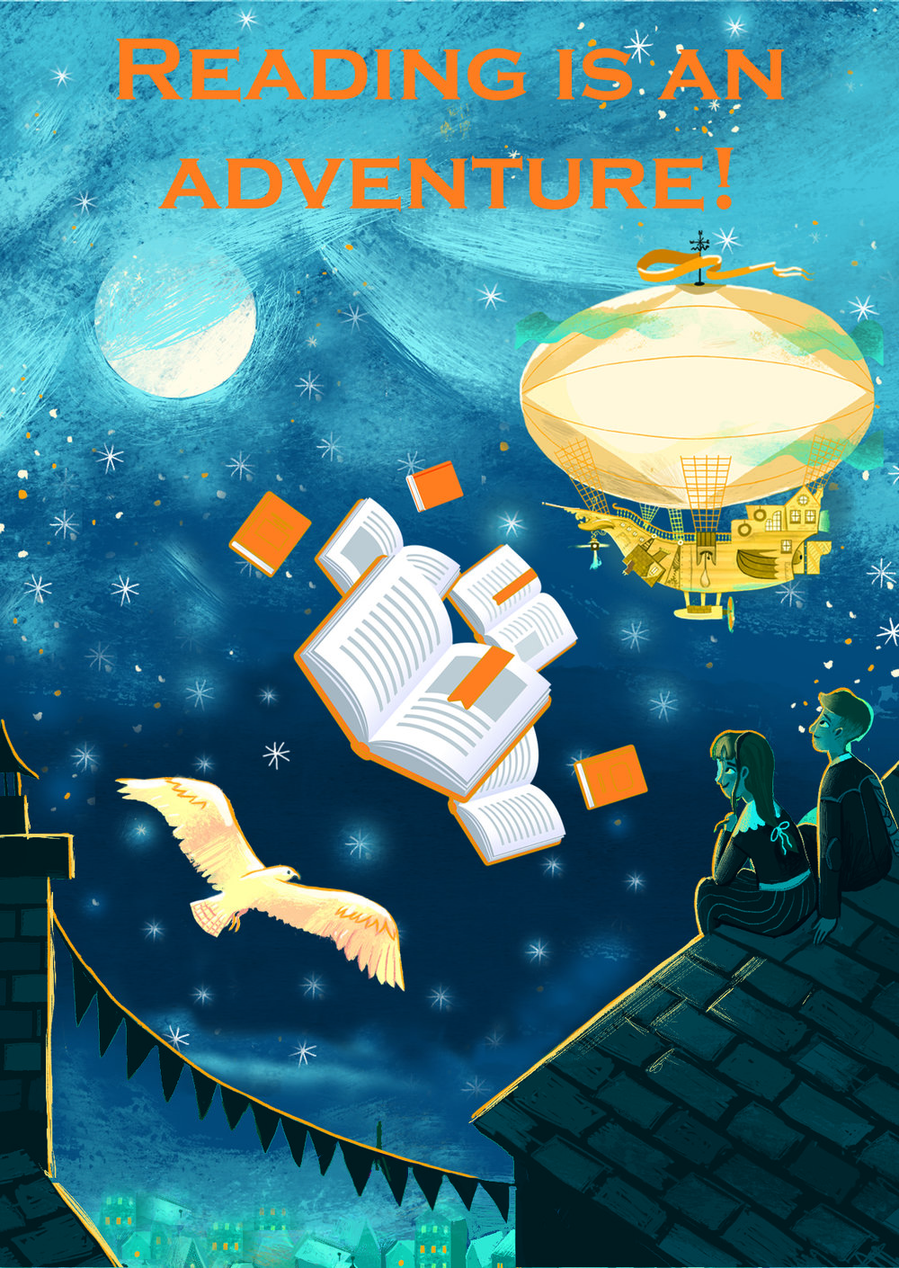 Reading is an Adventure poster 2