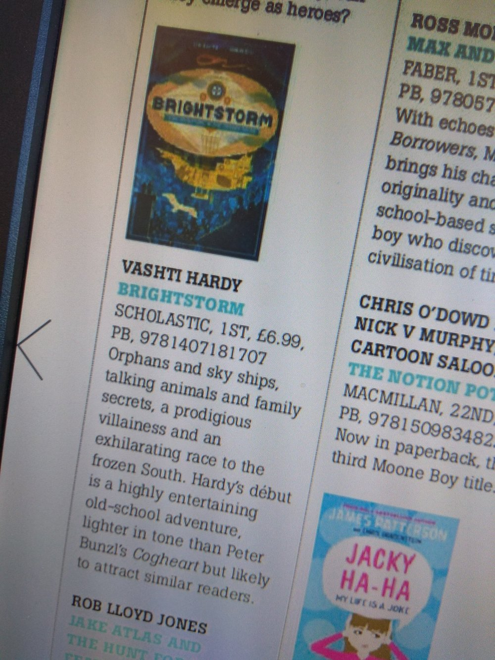 Brightstorm in the Bookseller