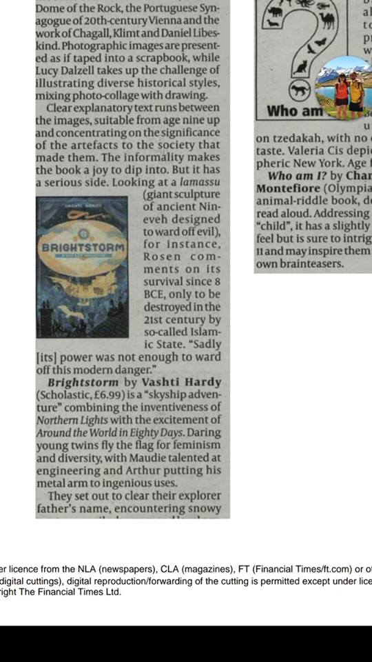 Brightstorm In the Jewish Chronicle