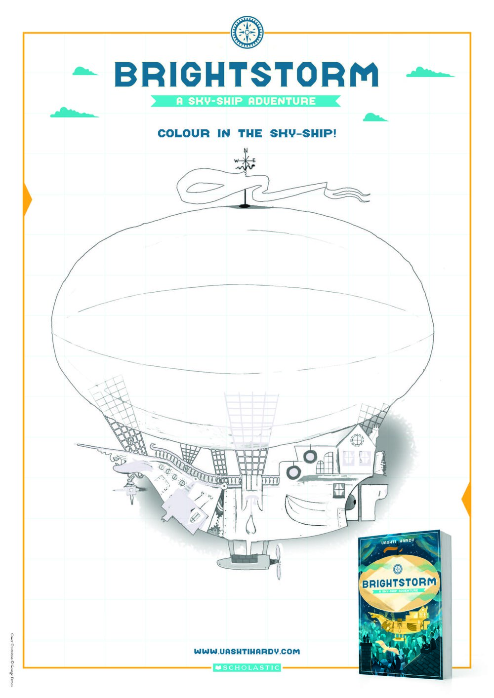 Colour a sky-ship