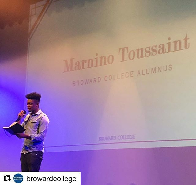 #Repost @browardcollege with @get_repost ・・・ ‪Former #BrowardCollege student Marnino Toussaint sharing his incredible poetry at #WelcomeBackFaculty event this morning. @bluapplepoetry @omarihardwickofficial ‪#BCProud #TogetherWeServe‬