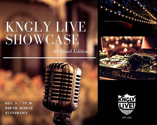 Don't miss the first ever @knglystudiosinc showcase. I'll be touching the mic...come through!