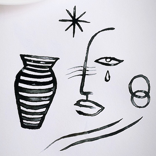 Emma Kahlhoven | @emma.kahlhoven  #womenwithpencils #emmakahlhoven  #illustration #illustrationoftheday #illustratorsoninstagram #art #artist #artistsoninstagram #drawing #painting #womenartists #visiblewomen #ink #encre #indianink #blackandwhite