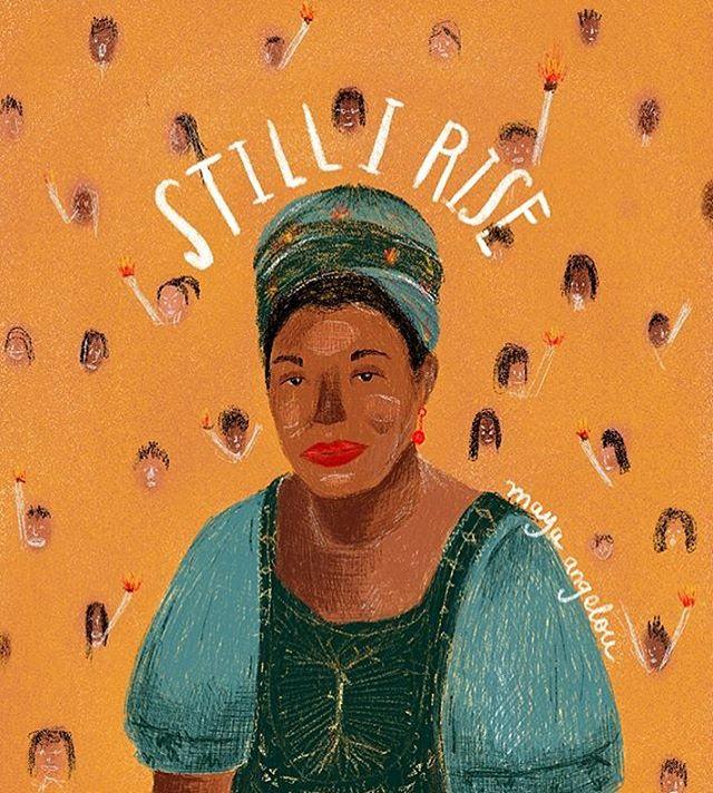 OH GY | @quema_la_casa —— #womenwithpencils #illustration #illustrationoftheday #illustratorsoninstagram #art #artistsoninstagram  #drawing #painting  #visiblewomen #womenartists #mayaangelou #stillirise