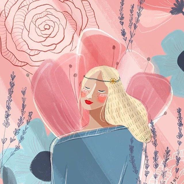 Jocelyn Li Langrand | @jocelynlilangrand —— #womenwithpencils #jocelynlilangrand #illustration #illustrationoftheday #illustratorsoninstagram #art #artistsoninstagram  #drawing #painting  #visiblewomen #womenartists