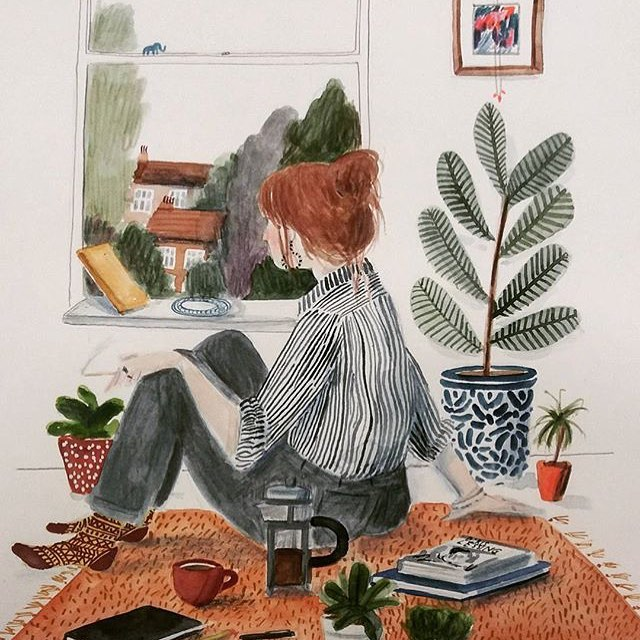 Lizzy Stewart | @lizzy_stewart —— #womenwithpencils #lizzystewart #illustration #illustrationoftheday #illustratorsoninstagram #art #artistsoninstagram  #drawing #painting  #visiblewomen #womenartists