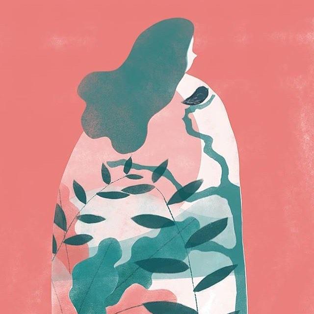 Zhanet R.   @zhanetilu —— #womenwithpencils #illustration #illustrationoftheday #illustratorsoninstagram #art #artistsoninstagram  #drawing #painting  #visiblewomen #womenartists