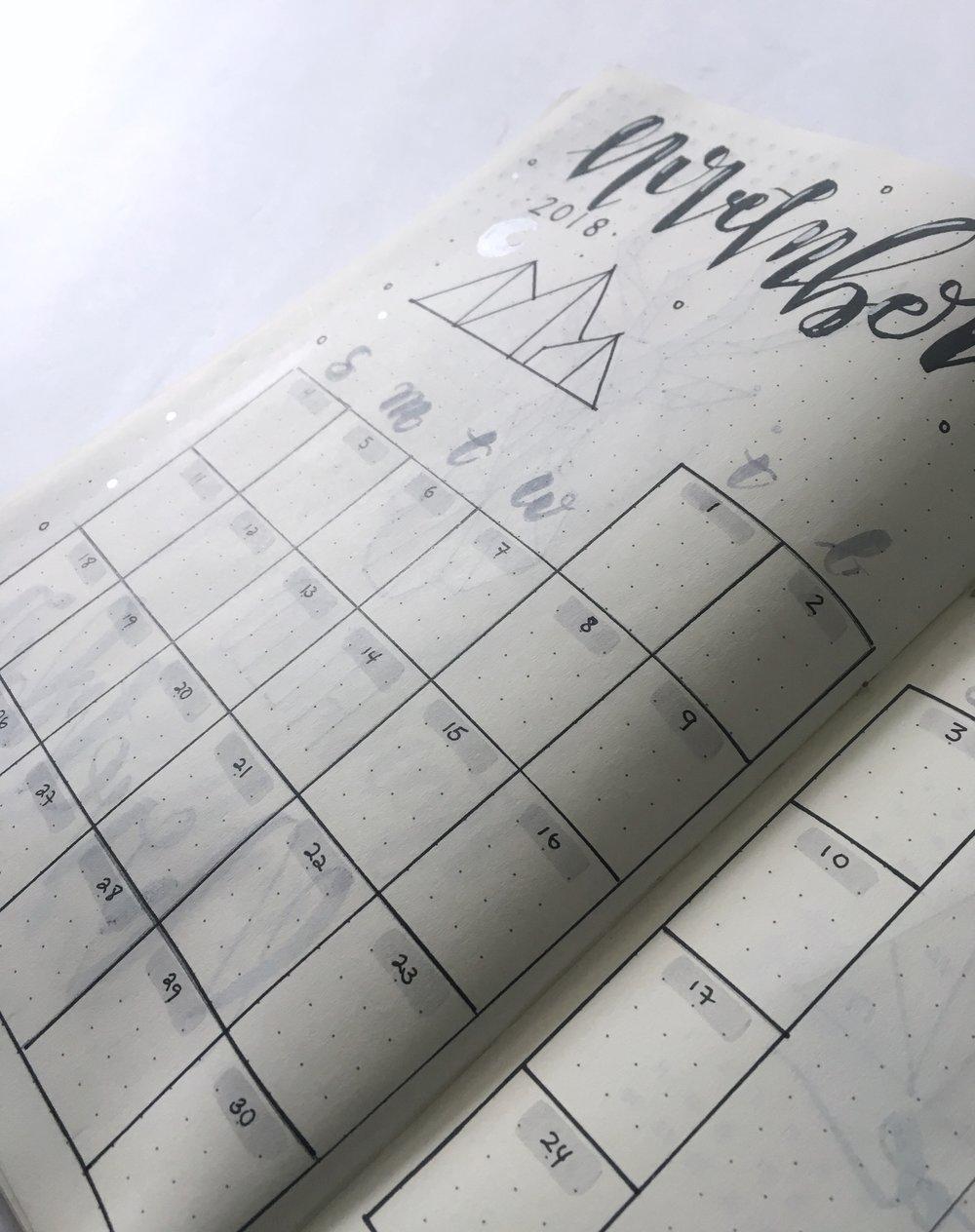 bojo calendar close up nov 2018