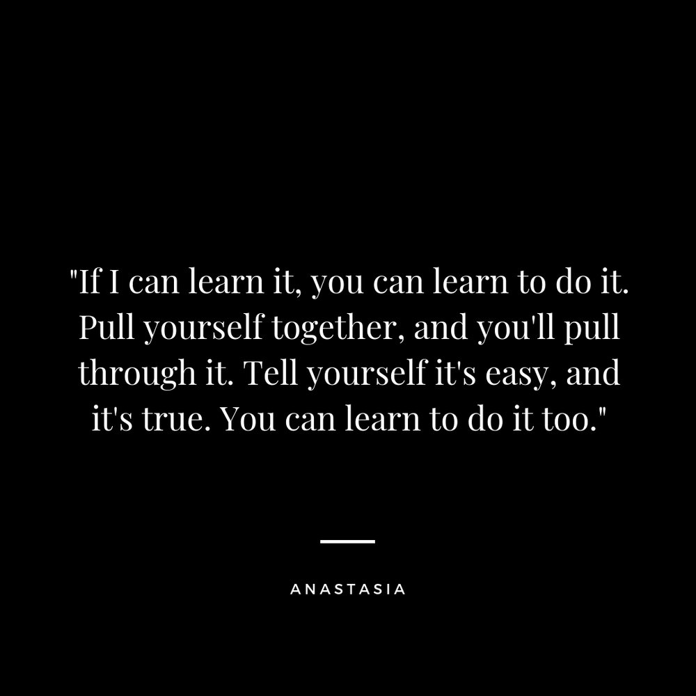 you can learn to do it too quote