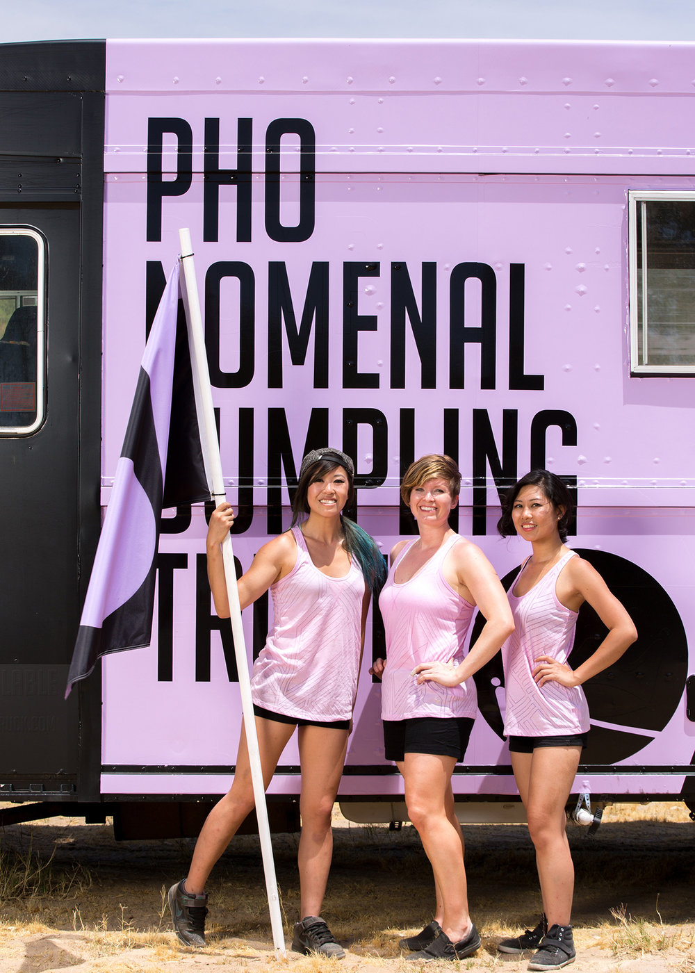 From left to right: Sunny Lin, Becca Plumlee, Sophia Woo. Photo credit: Food Network