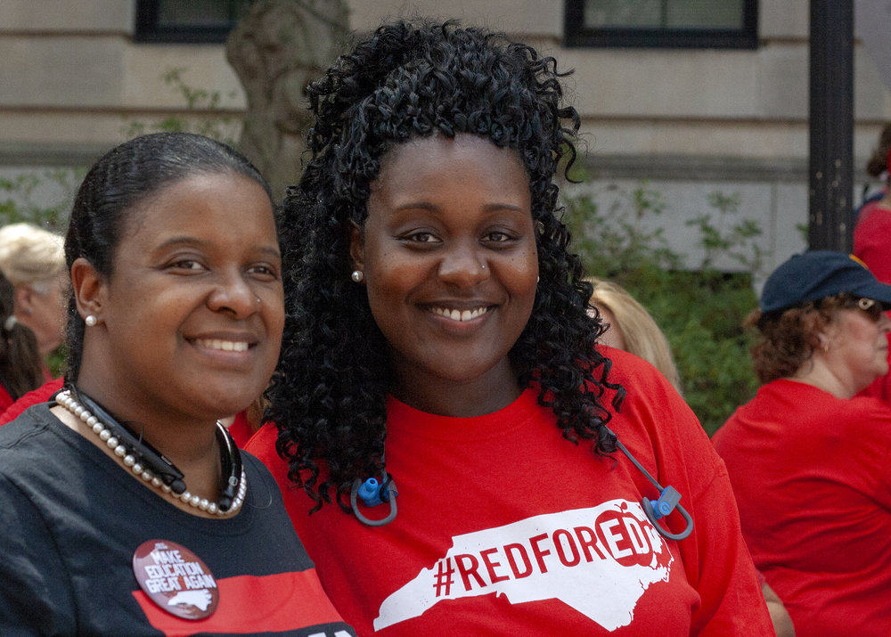 Joshayla and Aftan at the Rally for Respect in Raleigh on May 16.