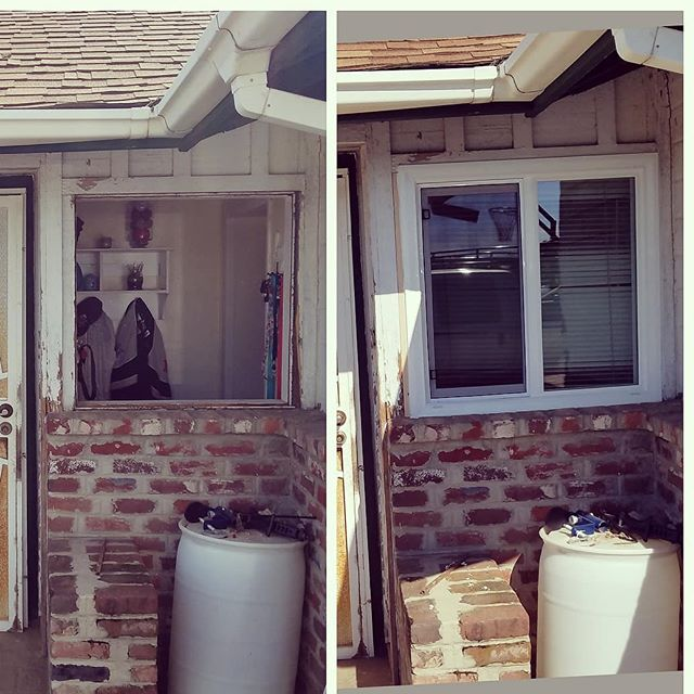 """Before and After! 💰👌 Keep more money in your pocket! 🤑Lower your energy bill and save BIG by making energy-efficient home improvements such as replacing your old windows. There is no """"catch!"""" Find out why hundreds of homeowners keep choosing us to fix their home, sweet home.  #FresnoCa #fresno #madera #Merced #modesto #visalia #maderaranchos #chowchilla #bonadelle #kerman #reedley #parlier #coalinga #california  #home"""