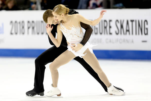 Tarah Kayne and Danny O'Shea compete in the Pairs Free Skate during the 2018 Prudential U.S. Figure Skating Championships at the SAP Center on January 6, 2018 in San Jose, California.
