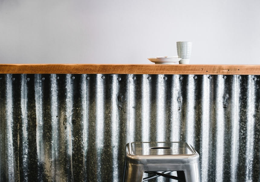 Corrugated Iron Bar at Chicken Institute