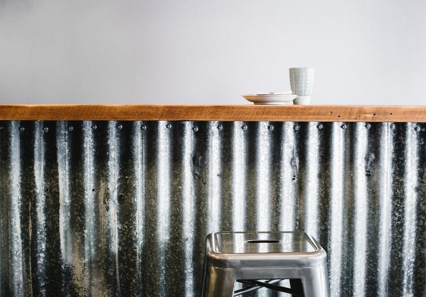 Corrugated Iron Bar at Chicken Institute