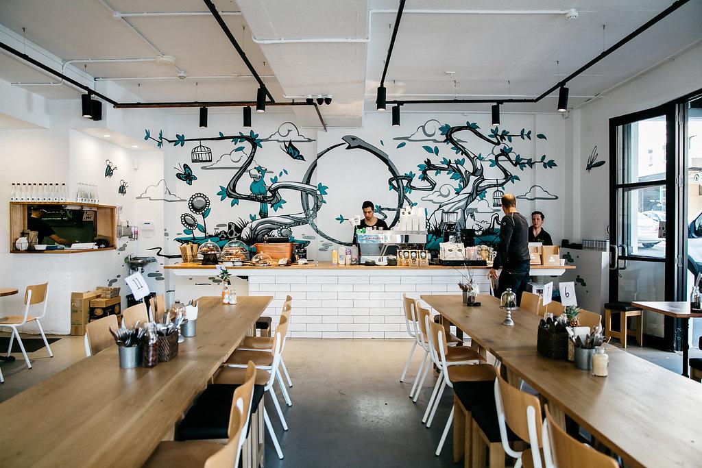 Ourboros Cafe - American Oak Trestles