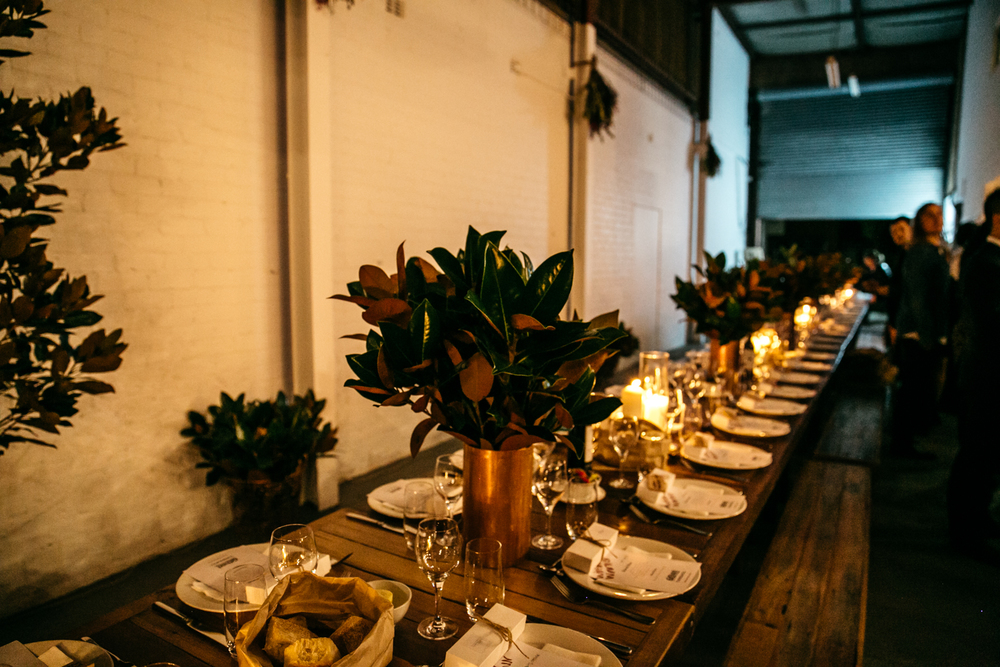 Table Setting at Winter Warmer