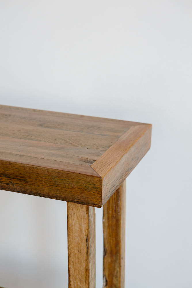 recycled timber console unit