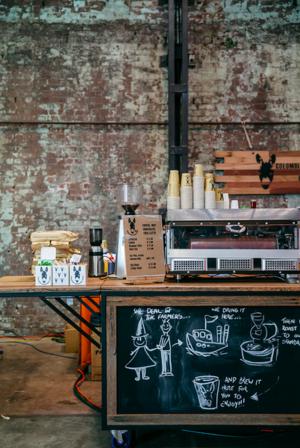 coffee cart detail