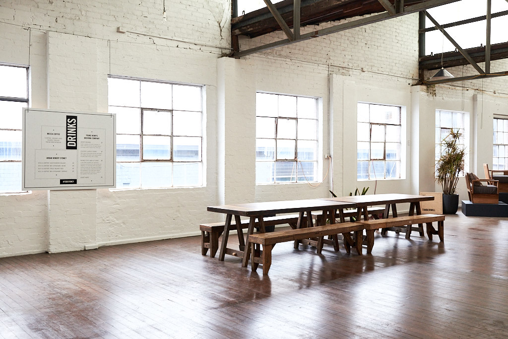 Rental 'Dining' trestles at Factory Design District