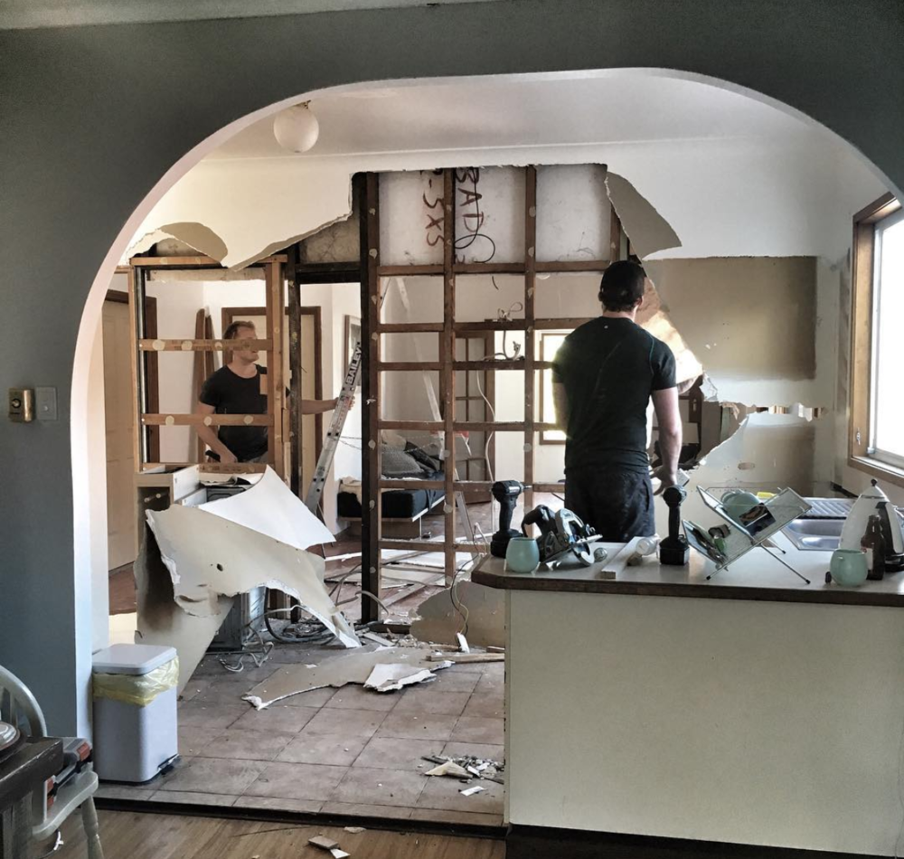 #williamstreno | knocking down the wall between kitchen & living