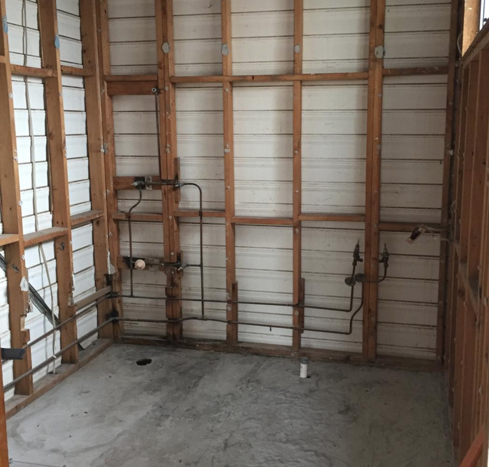 #williamstreno | demolition complete for bathroom 1