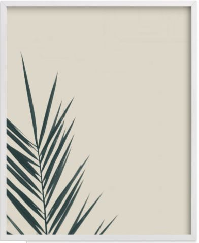 "Quantity: 1      Placement: On rendered wall as shown. Approximately 36"" off the floor. Center on the wall and leave about 6"" in between prints.      Notes:   Leaf Green, white wood frame, 16x20, standard plexi & materials,    Designer Discount Code:     TRADEDESBYDANI"