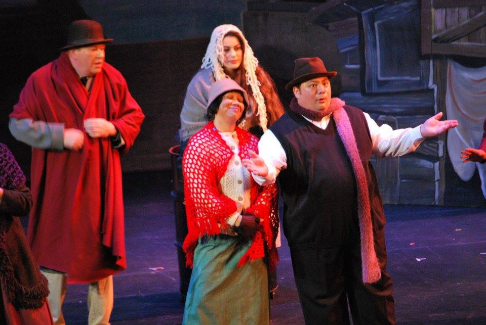 "Ensemble in ""Annie"" at Tri Valley RepertoryTheatre, 2012"