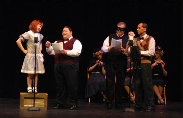 """Bert Healy"" in ""Annie"" at Tri Valley Repertory Theatre, 2012"