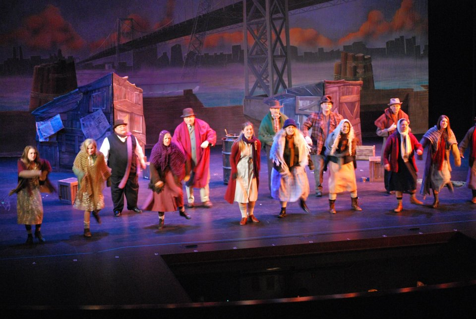 "Ensemble in ""Annie"" at Tri Valley Repertory Theatre, 2012"