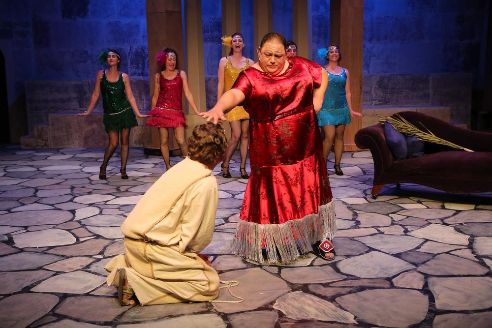 """Herod"" in ""Jesus Christ Superstar"", Coastal Repertory Theatre, 2014"
