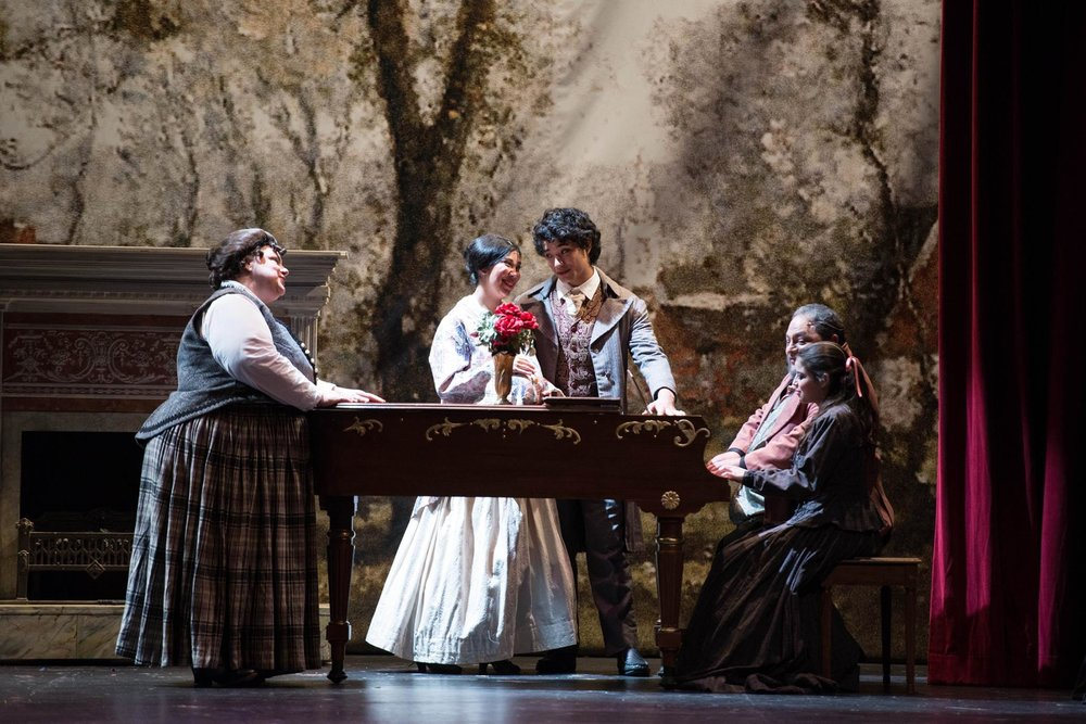 """Mr. Laurence"" in ""Little Women"" at NDNU Musical Arts OnStage, 2013""."