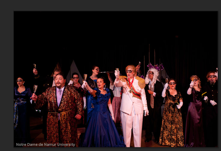 """Alfred"" in ""Die Fledermaus"" at NDNU Musical Arts OnStage, 2012"